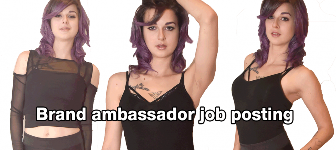 Brand ambassador job posting